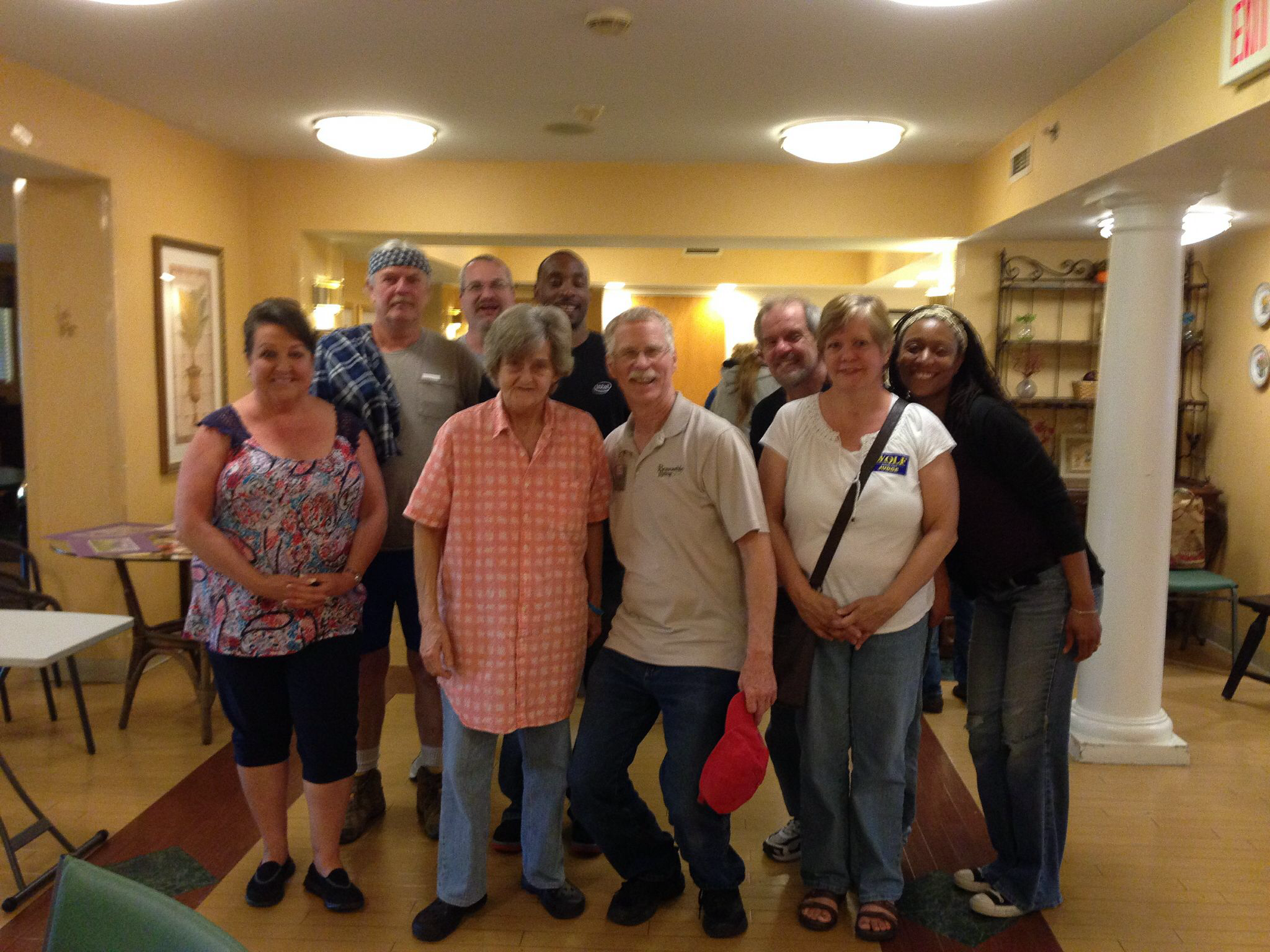 Louisville Atheists help elderly residents complete their homes!